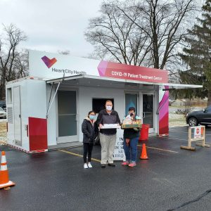 Heart City Health Receives Care Package - Nowlin Family